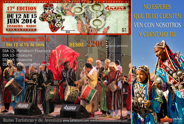 FESTIVAL GNAOUA DE ESSAOUIRA. Del 12 al 15 de Junio de 2014 1
