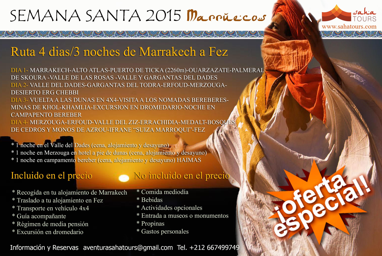 VIAJE A MARRUECOS SEMANA SANTA. Ruta 4 días/3 noches desde Marrakech a Fez 1