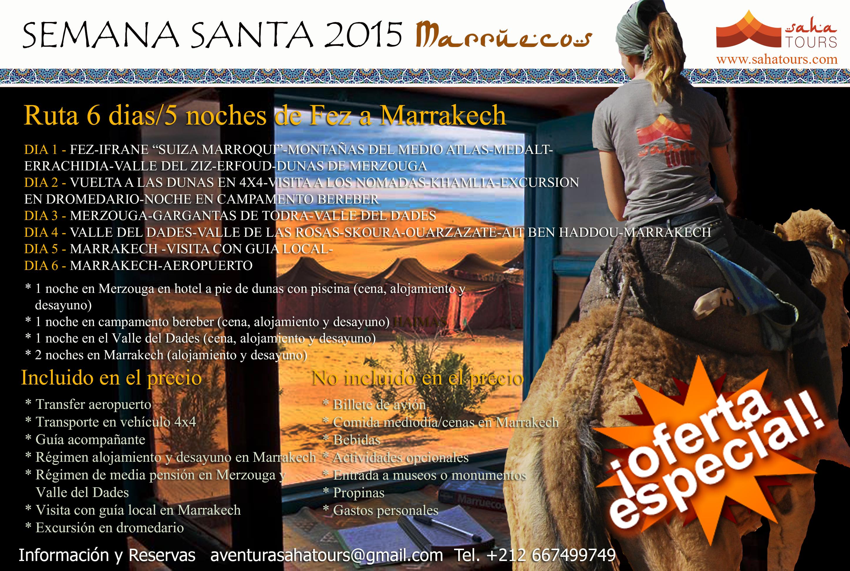 VIAJE A MARRUECOS SEMANA SANTA. Ruta de 6 días/5 noches de Fez a Marrakech 1