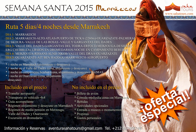 VIAJE A MARRUECOS SEMANA SANTA. Ruta 5 días/4 noches desde Marrakech 1