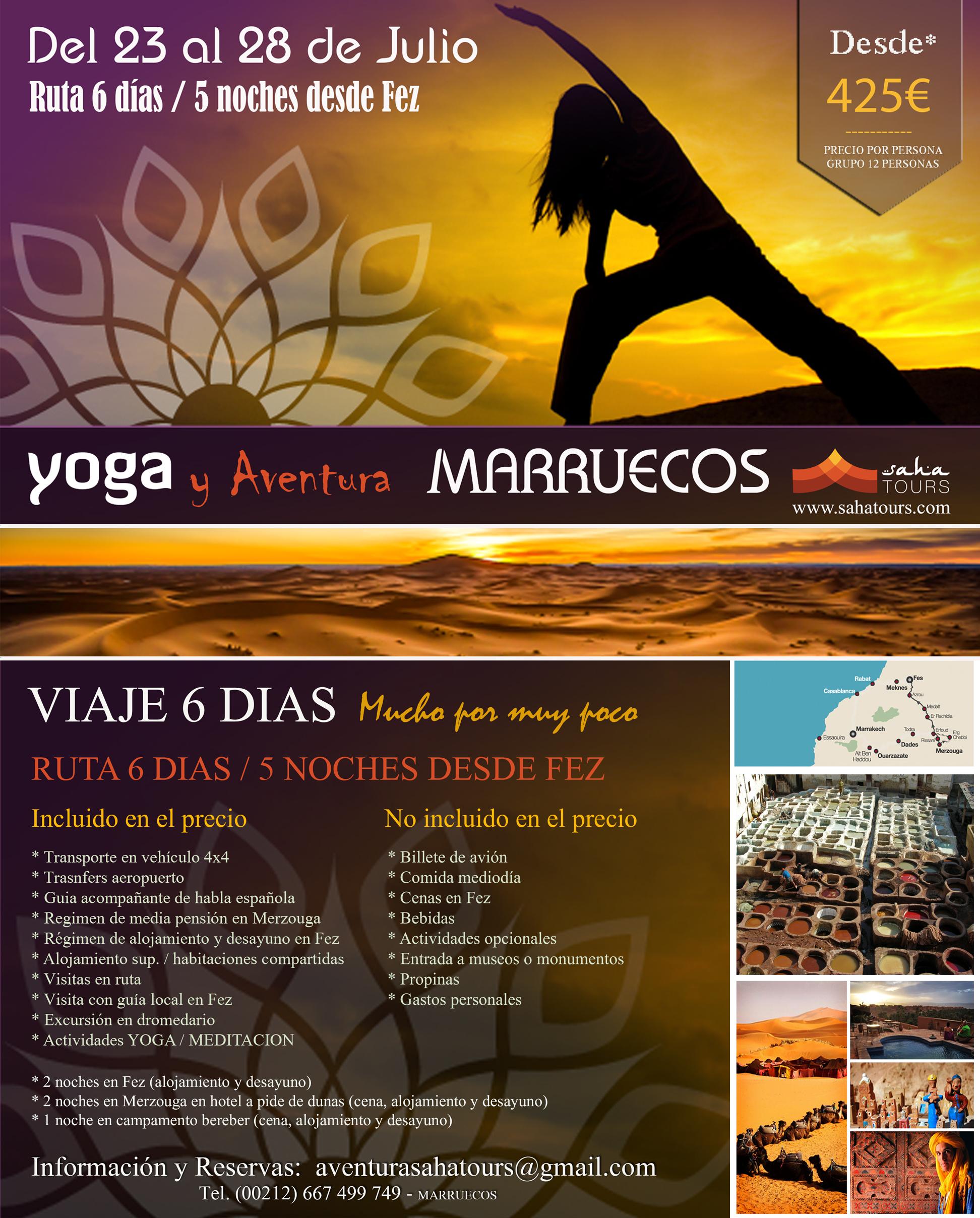 VIAJE A MARRUECOS / AVENTURA / YOGA EN EL DESIERTO / MEDITACION 1