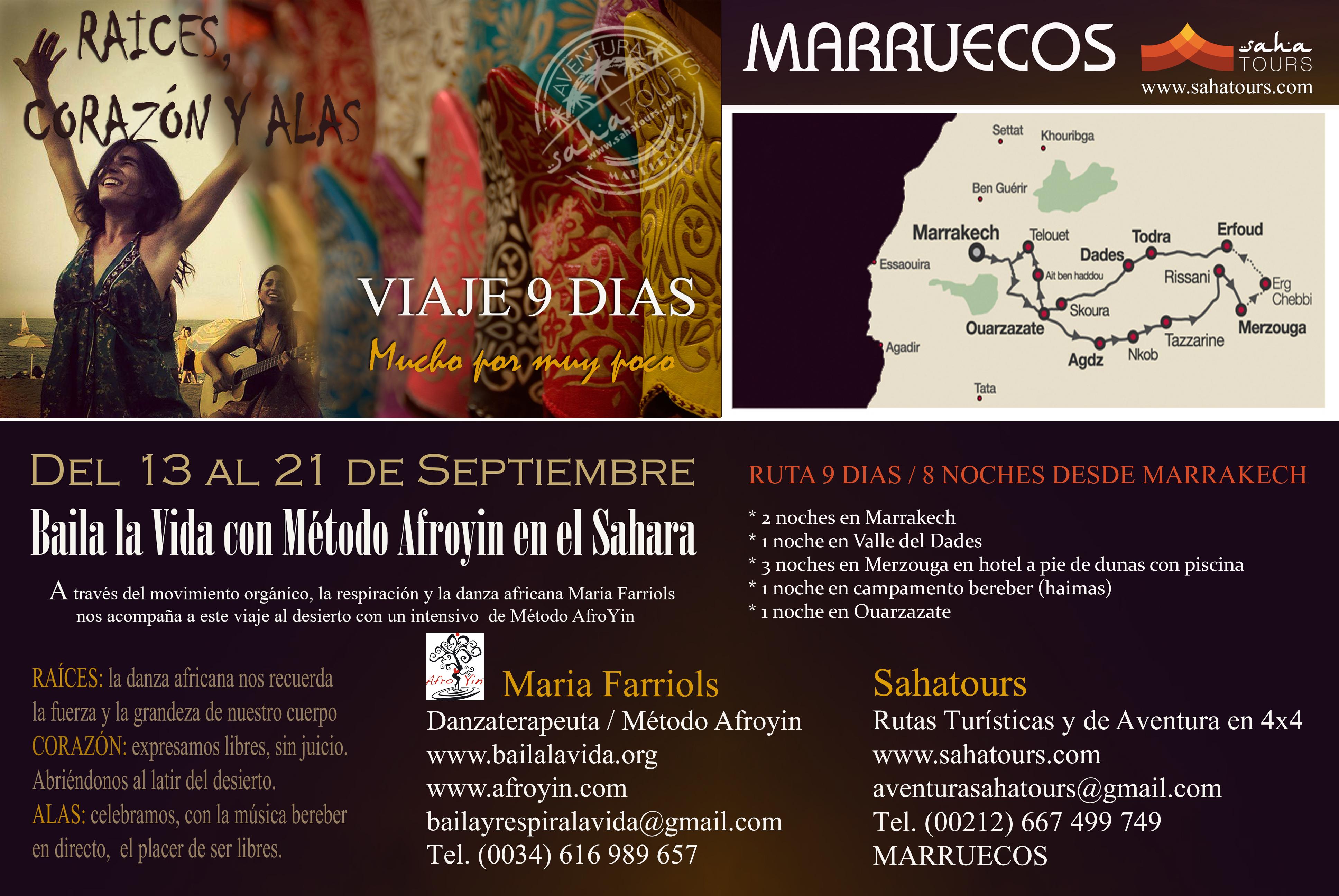 VIAJE A MARRUECOS CON BAILA LA VIDA - SEPTIEMBRE 2015 1