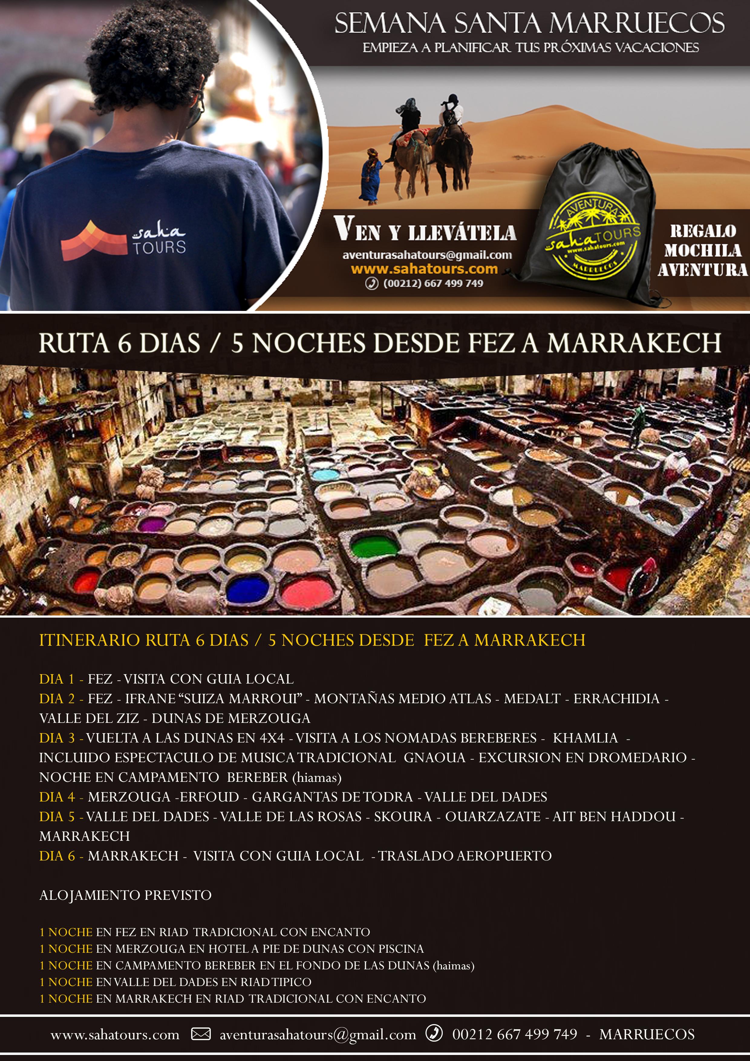 SEMANA SANTA MARRUECOS - RUTA 6 DIAS / 5 NOCHES DESDE FEZ A MARRAKECH 1