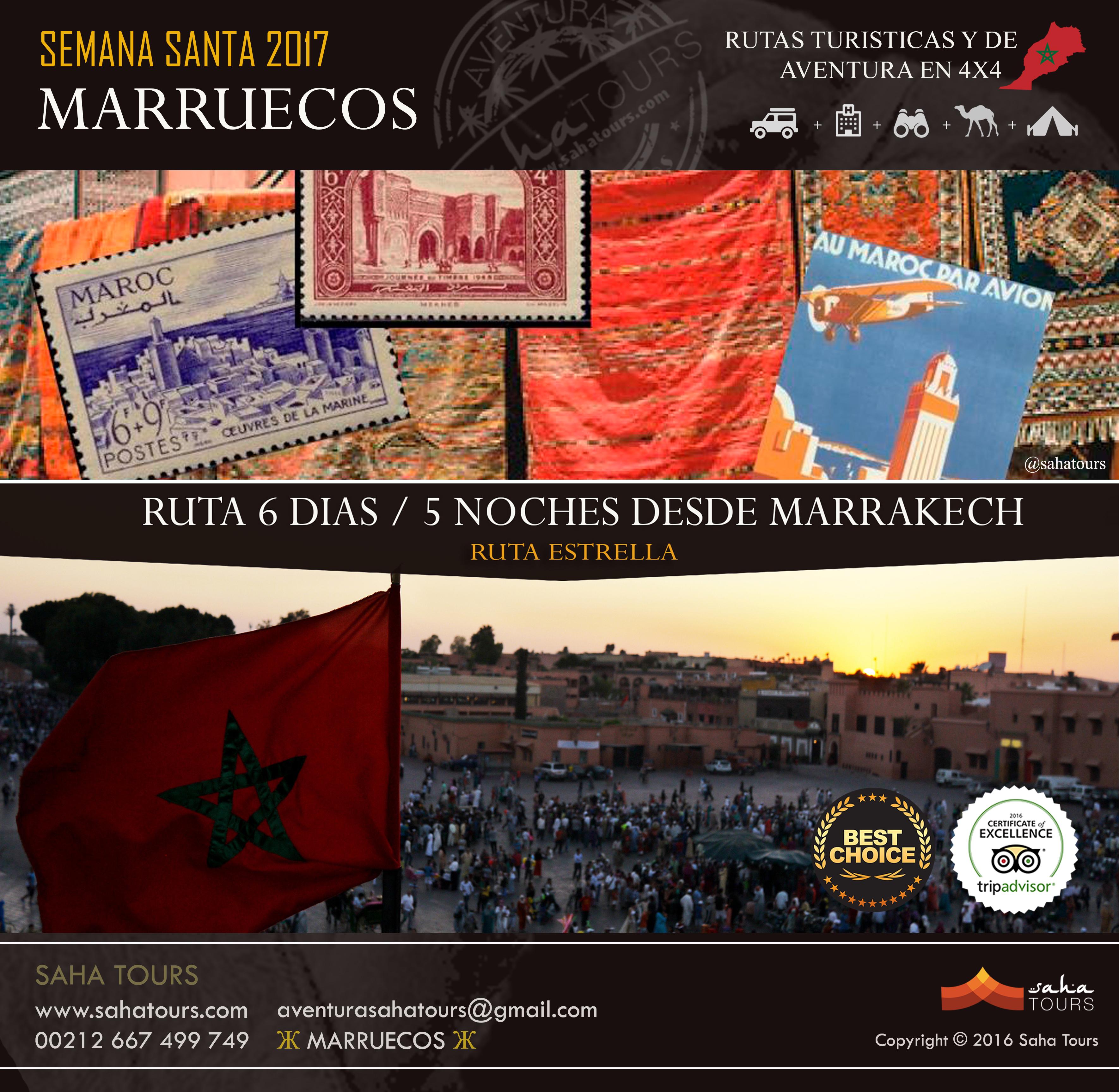 VIAJE A MARRUECOS - SEMANA SANTA 2017 - RUTA 6 DIAS / 5 NOCHES DESDE MARRAKECH 1